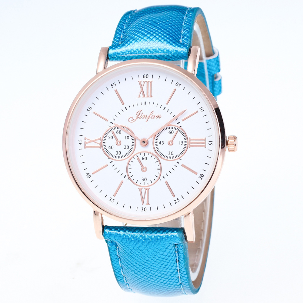 Geneva ladies watch new casual fashion Roman numerals dial High quality leather strap Simple retro woman watch Gift new guote fashion designer geneva ladies sports brand white