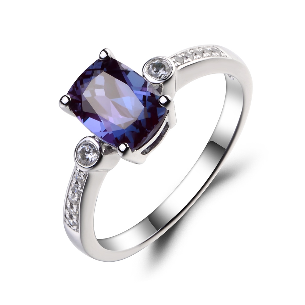 ring engagement alexandrite rings silver june with birthstone claddagh