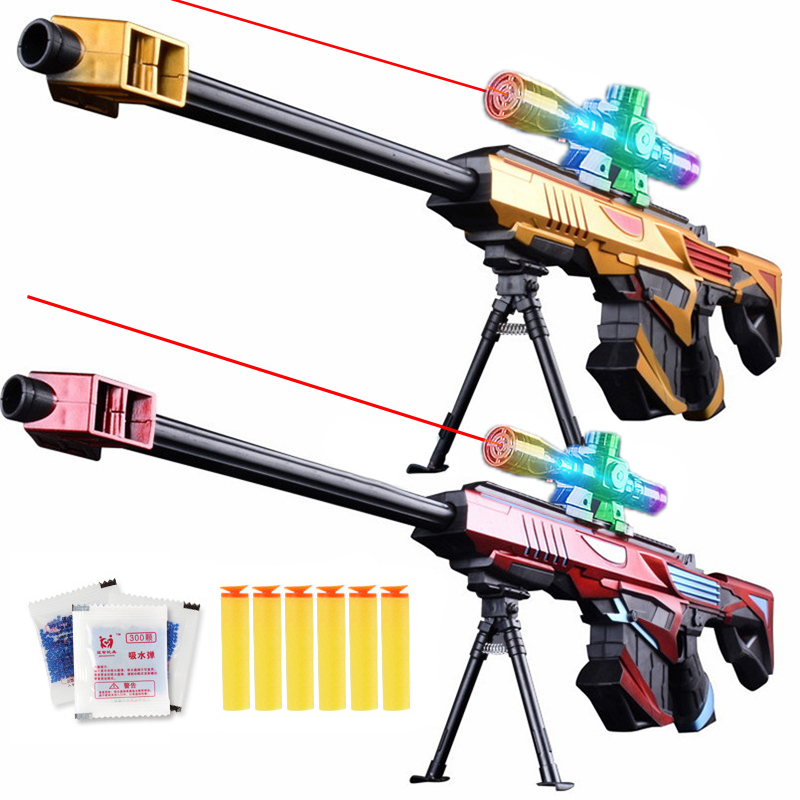 Infrared Water Bullet Gun Toy Soft Bullets Sniper Rifle Paintballs Manual Upload Boys Weapon Outdoor Shooting Gun Gift for Child 1