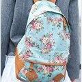 2017 Женщины Холст Девушка Цветок Рюкзак Школа Книга Сумка Путешествия Сумка Рюкзак Высокое Качество Бесплатная Доставка N597