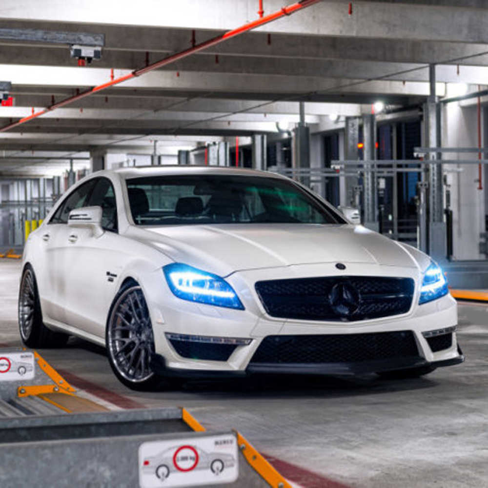 W218 AMG Renntech Style Carbon Fiber Body Kit Front lip,Diffuser,Rear  Spoiler for Mearcedes Benz W218 AMG Bumper 2011-2013