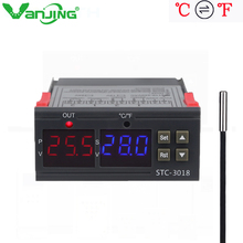 STC-3018 12V 24V 220V Digital Temperature Controller C/F Thermostat 10A Relay Thermoregulator Heating Cooling Switch