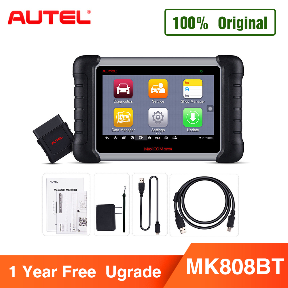 Autel MaxiCOM MK808BT OBD2 Scanner Ferramenta de Diagnóstico, com a Versão Atualizada do MK808 MaxiVCI Suporta Diagnóstico Completo Do Sistema