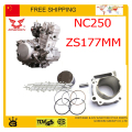 NC250 piston ring pin set 76mm cylinder bore zongshen engine XZ250R T6 xmotos apollo KAYO BSE 250cc 4 valves accessories