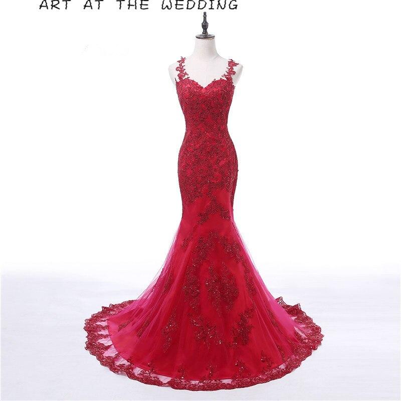 Rote Meerjungfrau kleidet langes Abendkleid 2019 neue - Kleider für besondere Anlässe
