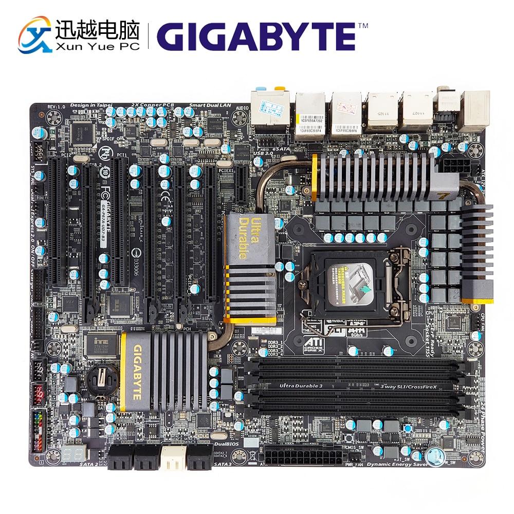 Gigabyte GA-P67A-UD7-B3 Desktop Motherboard P67A-UD7-B3 P67 LGA 1155 i3 i5 i7 DDR3 32G SATA3 USB3.0 ATX цены
