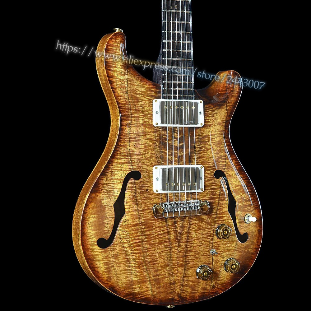 (Pre - Order) GC Private Stock #6138 Koa Hollowbody II With Piezo Electric Guitar np gc b002 1 10 exo armored suit private military contractor