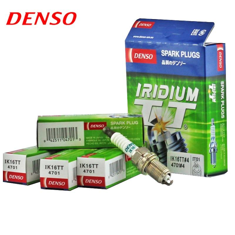 4pcs/lot DENSO Car Spark Plug For Nissan Maxima A32 A33 Micra K11 Navara D22 Pulsar N14 Pulsar N16 double iridium IK16TT