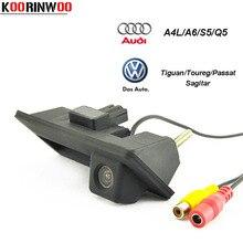 Koorinwoo HD CCD вид сзади автомобиля Камера ручка кнопка для Audi/VW/Skoda/Passat/Tiguan/Гольф/Touran/Toureg/Sharan/A4L/S5/Q3/Q5/A8L