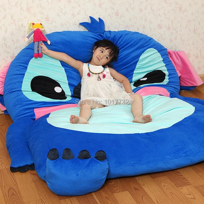 stitch cartoon mattress tatami oversized beanbag double totoro mattress sleeping bag pad soft. Black Bedroom Furniture Sets. Home Design Ideas