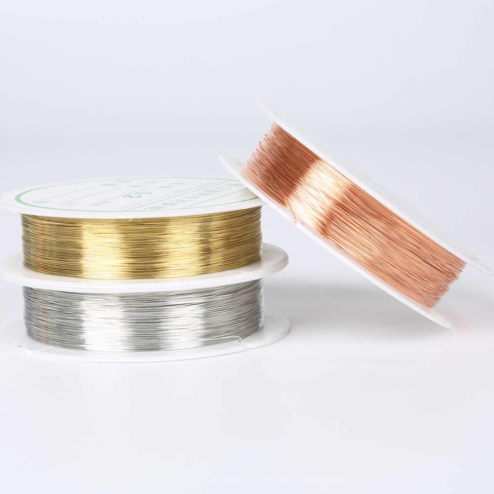 0.2/0.25/0.3/0.4/0.5/0.6/0.8/1mm זהב כסף נחושת חוט aolly כבל קרפט ואגלי חוט עבור צמיד שרשרת תכשיטי DIY מציאת