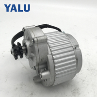 Electric Car Brush DC Motor MY1018 450W 24V DC Motor Double Gear Motor