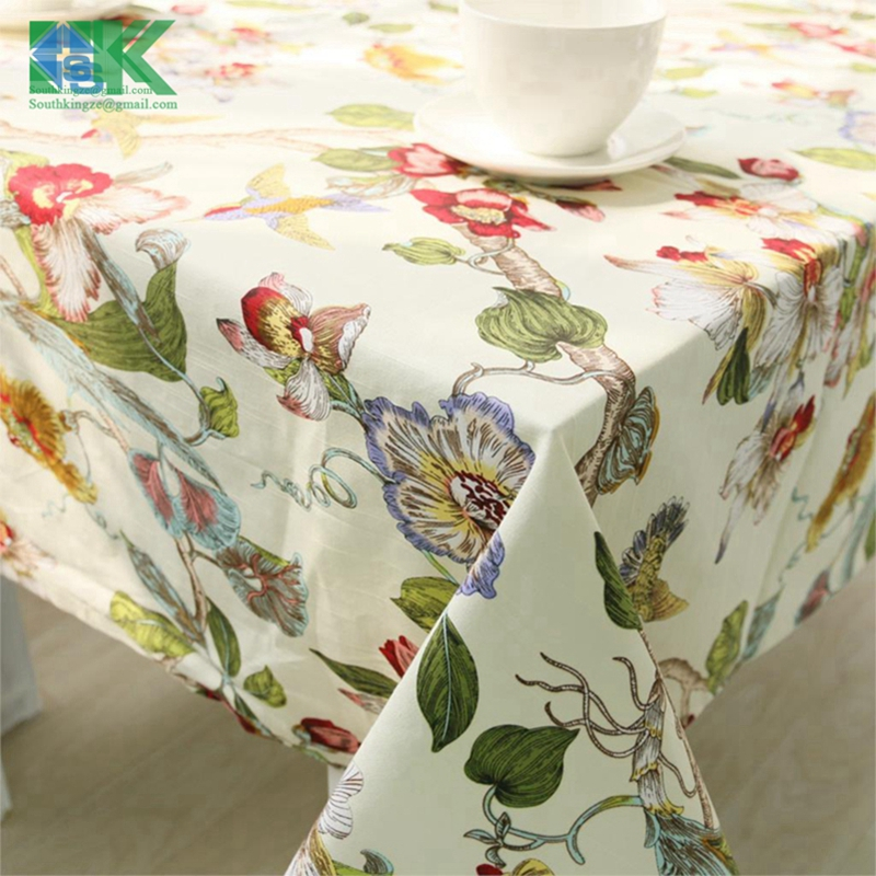 Summer New Factory Direct Sell Cotton Double Double Dimensional Linen  Printed Tablecloths Restaurant Place Mats