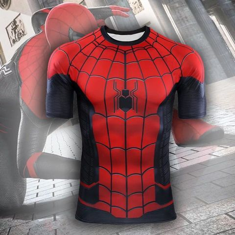 Spider-man Far From Home Cosplay T Shirts Men Fashion Spiderman Sports Short Sleeve T-shirts Tops Tees Pakistan