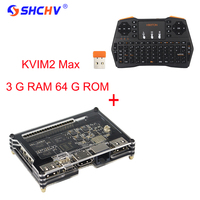 Khadas Vim 2 Max Amlogic S912 WiFi Bluetooth unterstützung Linux Android besser als für Orange Pi PC + 2,4 Ghz drahtlose Tastatur