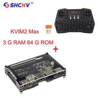 Khadas vim 2 max Amlogic S912 WiFi, Bluetooth, поддержка Linux Android лучше, чем для оранжевый Pi PC + 2.4 ГГц беспроводной клавиатура
