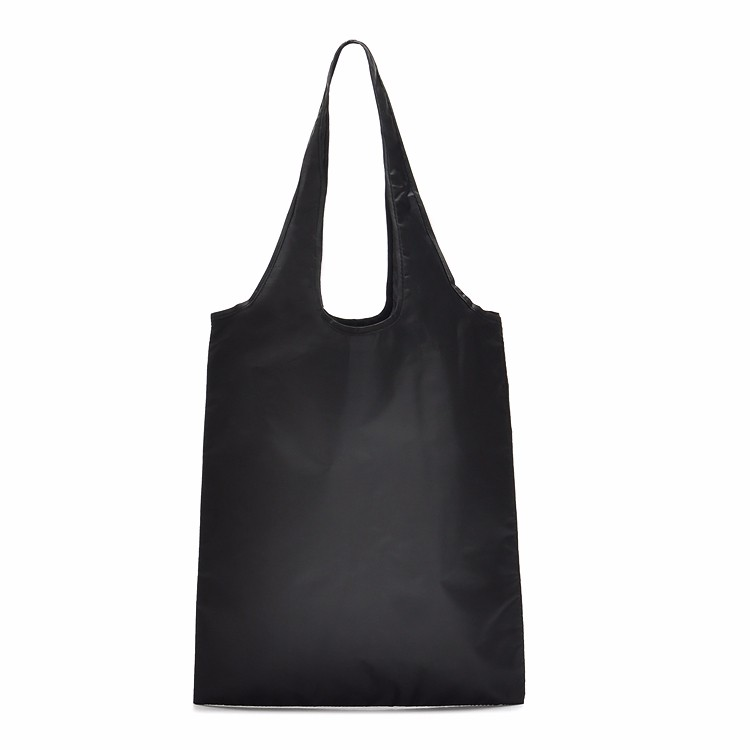 Custom Reusable Bags Nylon Black Grocery Totes Promotional Shopping Bags 14