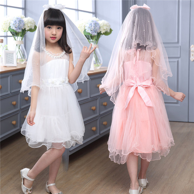 Children S Clothing New Dancing Wedding Dress Pearl Beautiful Princess Clothes Fashion Child Lace