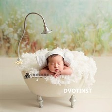 Hats & Caps Dvotinst Baby Photography Props Wooden Bed Tub Case Fotografia Accessory Infant Toddler Studio Shooting Photo Props Shower Gift
