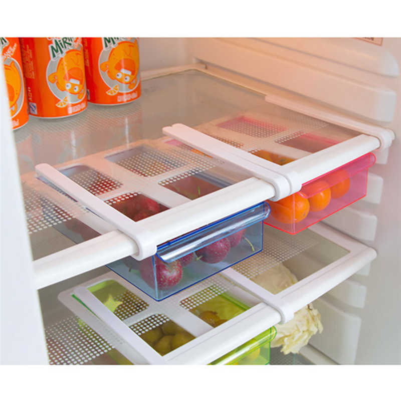 New listing Refrigerator Shelf Storage Rack Multifunctional  Storage Box Food Container Kitchen Tools Pollution free For food-in Racks & Holders from Home & Garden