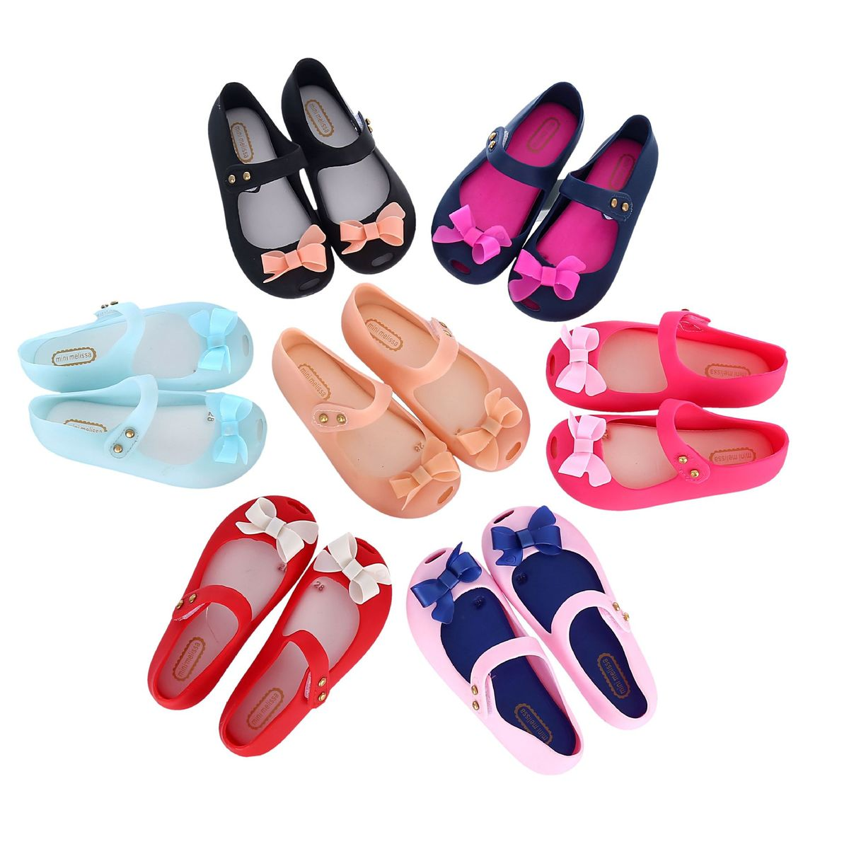Mini Melissa Children Fashion Kids Casual Cute Princess Hollow Bow Rivets Beach Sneaker Clogs Mules Girls Jelly Shoes Sandals 67