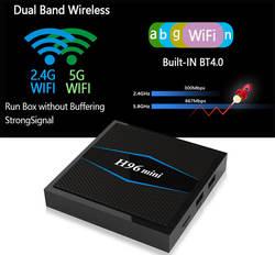 Новые H96 Mini 2 г Оперативная память 16 г Встроенная память 4 К box 2,4 г 5 ГГц Wi-Fi Bluetooth телеприставку smart tv box для android 7,1 Android tv box Amlogic S905W