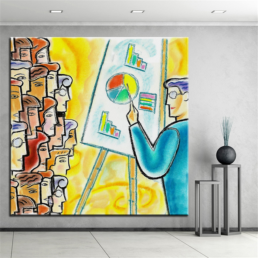 Large size Printing Oil Painting conference Wall painting Home ...