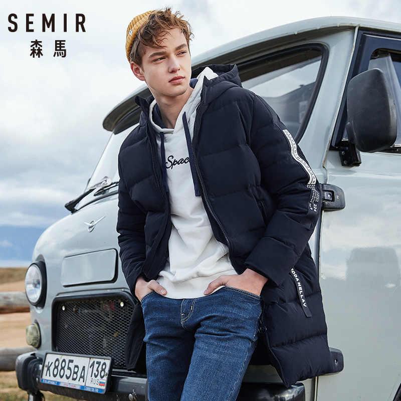 Semir russo inverno para baixo jaqueta masculina roupas de marca longo quente grosso 80% cinza pato para baixo casaco masculino witner jaquetas para o homem