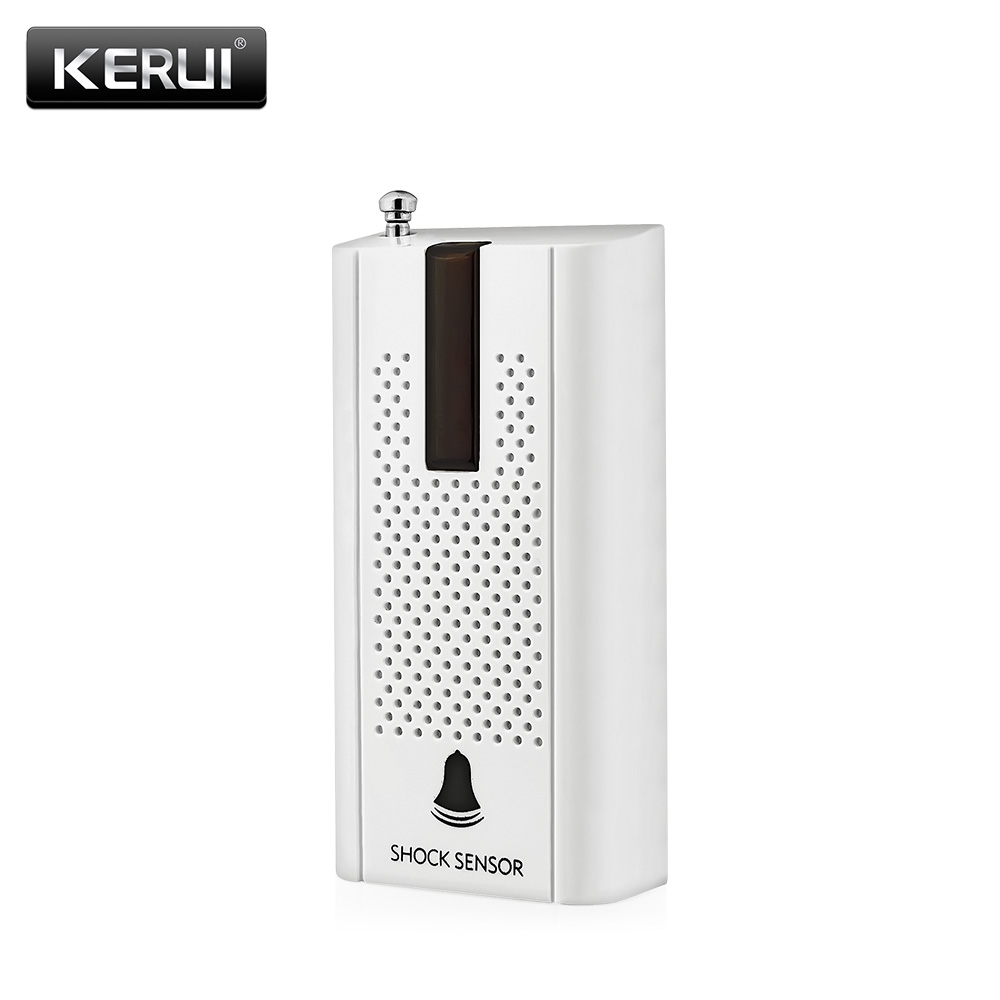 KERUI ZD30 Wireless Door Window Vibration Detector Shock Sensor Alarm For Security Burglar Home Alarm System with Antenna wireless vibration break breakage glass sensor detector 433mhz for alarm system