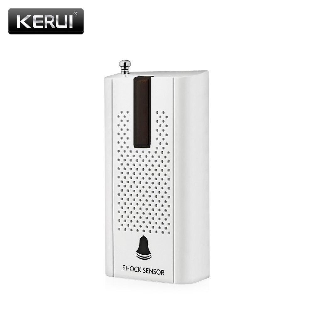 KERUI ZD30 Wireless Door Window Vibration Detector Shock Sensor Alarm For Security Burglar Home Alarm System with Antenna