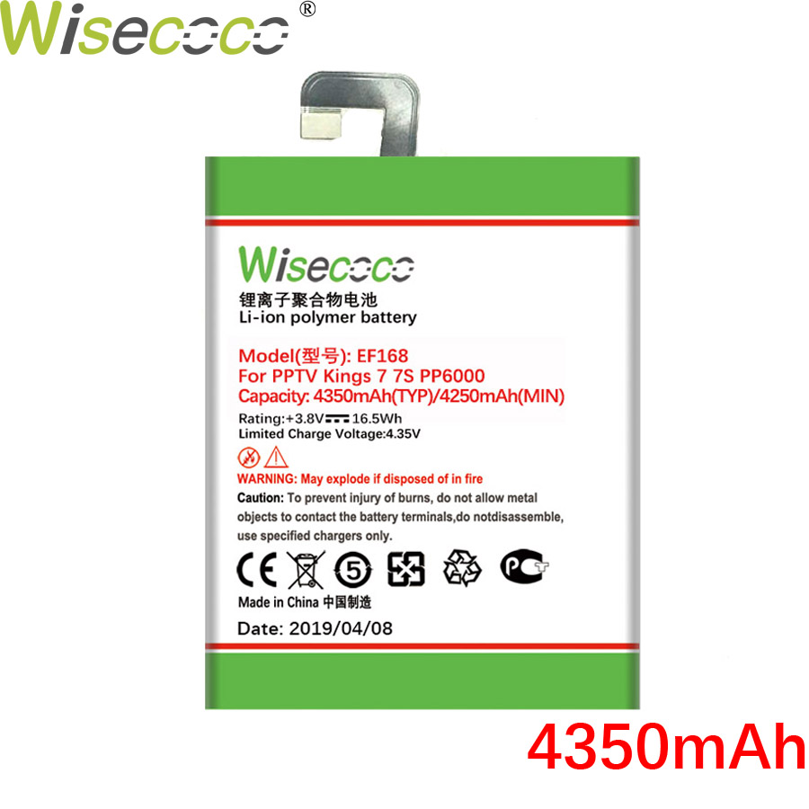 Wisecoco EF168 4350mAh New Powerful Battery For PPTV King7 King7S PP6000 Phone Battery Replacement +Tracking NumberWisecoco EF168 4350mAh New Powerful Battery For PPTV King7 King7S PP6000 Phone Battery Replacement +Tracking Number