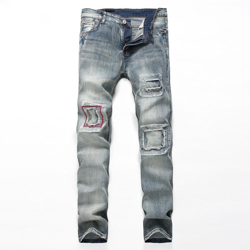 Casual Pantalon Jeans Jean Déchiré Hommes Adulte Grande Taille 38 28 CqxnX7w8X