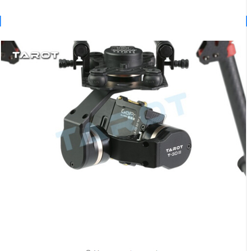 F17391 Tarot TL3T01 Update from T4 3D 3D Metal 3 axle Brushless Gimbal for GOPRO 4 / 3+/ 3 FPV Photography - 3