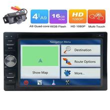 Android6.0  Car PC GPS DVD Player GPS Navigation 2Din Stereo Radio Support Bluetooth/WiFi/OBD2/SW Control/1080P+Free Rear Camera