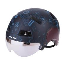 GUB V3 medio cubierto Retro Vintage ciclismo casco bici Scooter urbano con Visor gafas Graffiti M L tamaños