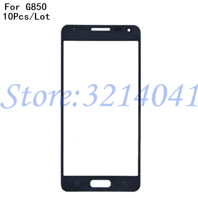10PcsLot 4.7 inches Touch Screen Panel Replacement For Samsung Galaxy Alpha G850F G8508 LCD Front Outer Glass Cover Len