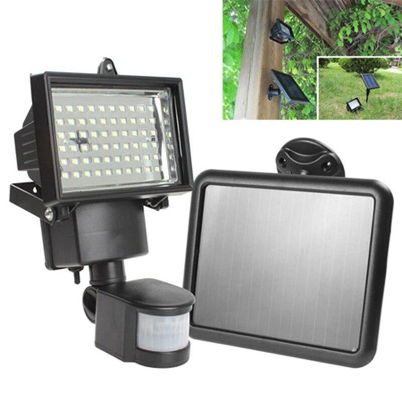 Hot Sale Solar Panel LED Flood Security Garden Solar Light Outdoor Emergency Light PIR Motion Sensor 60 LEDs Path Wall Lamps  цены