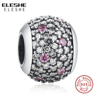 TOP Quality 100 925 Sterling Silver Charm Beads With Full Crystal Fit Original Bracelet Necklace Pendants
