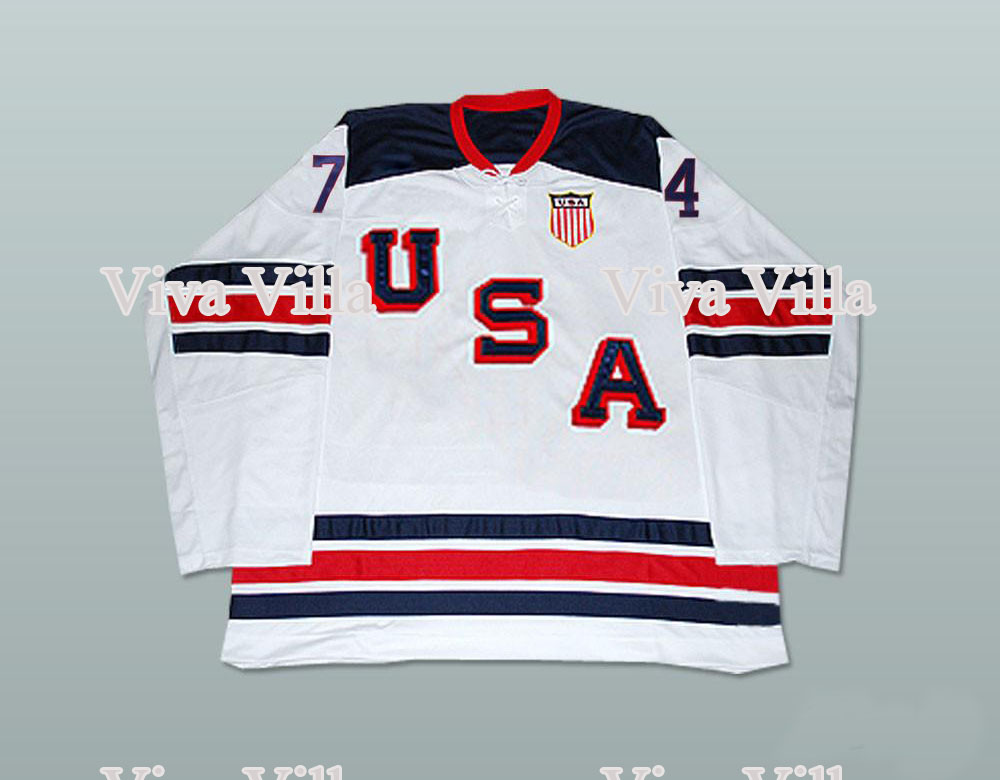 Throwback Hockey Jersey 74 T.J. Oshie Jersey Custom Hockey Jersey Men 100% Stitched Ice Hockey Jersey Viva Villa 2015 61 men s hockey jersey