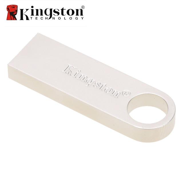 Kingston Mini USB 2.0 Memory Stick 8GB 16GB 32GB USB Flash Drive Mental Silver Ring Pen Drive Memoria Stick DTSE9 16 GB Pendrive