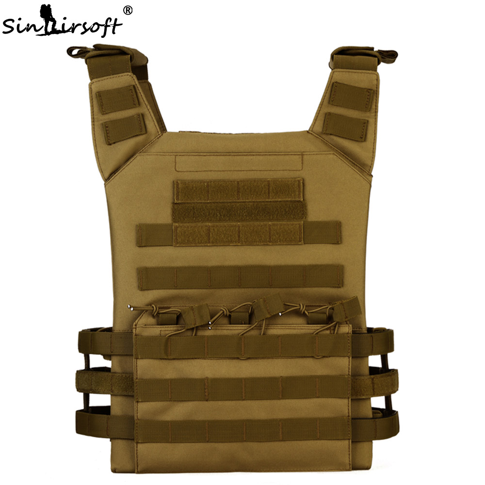 SINAIRSOFT Molle Tactical JPC Vest Airsoft Nylon Military Pouches Adjustable Outdoor Fishing Hunting CS  Amphibious Vest airsoft adults cs field game skeleton warrior skull paintball mask