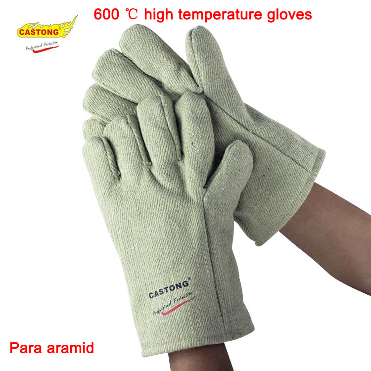 600 degrees high temperature gloves 34CM aramid Anti-scalding safety glove Flame retardant fire gloves safurance anti cuttingextended wearable welding gloves industrial leather protective glove workplace safety fire retardant