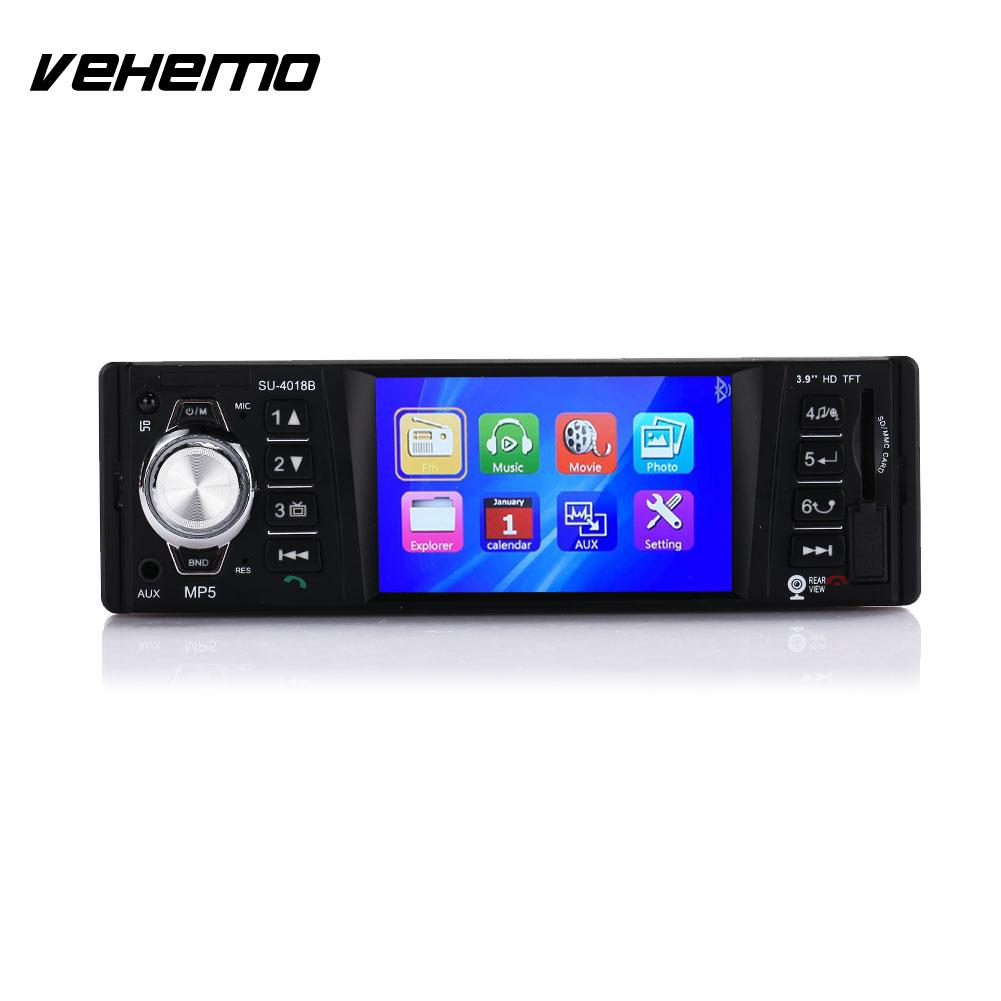 VEHEMO Colourful Backlight HD Stereoscopic Sound Effect Music Player MP5 Player Car Video Player Radio Car MP5 FM Transmitter