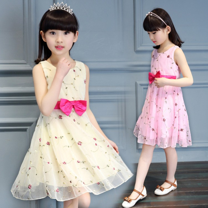 Girls Embroidery Summer Dress 5 6 7 8 9 10 to 12 Years Kids Dresses Girls Clothes Children Infant vestidos Toddler Girl Clothing kids dresses clothes summer 2017 girl dress princess dress girls children clothing floral print toddler dress 5 6 7 8 9 10 years
