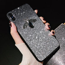 Luxury Shiny Bee Glitter Case For Huawei Mate 20 Pro 10 P9 P30 P20 Pro Lite Y6 Y7 Pro Y9 2019 Honor 9 10 lite Nova 4e 4 3i Cases(China)