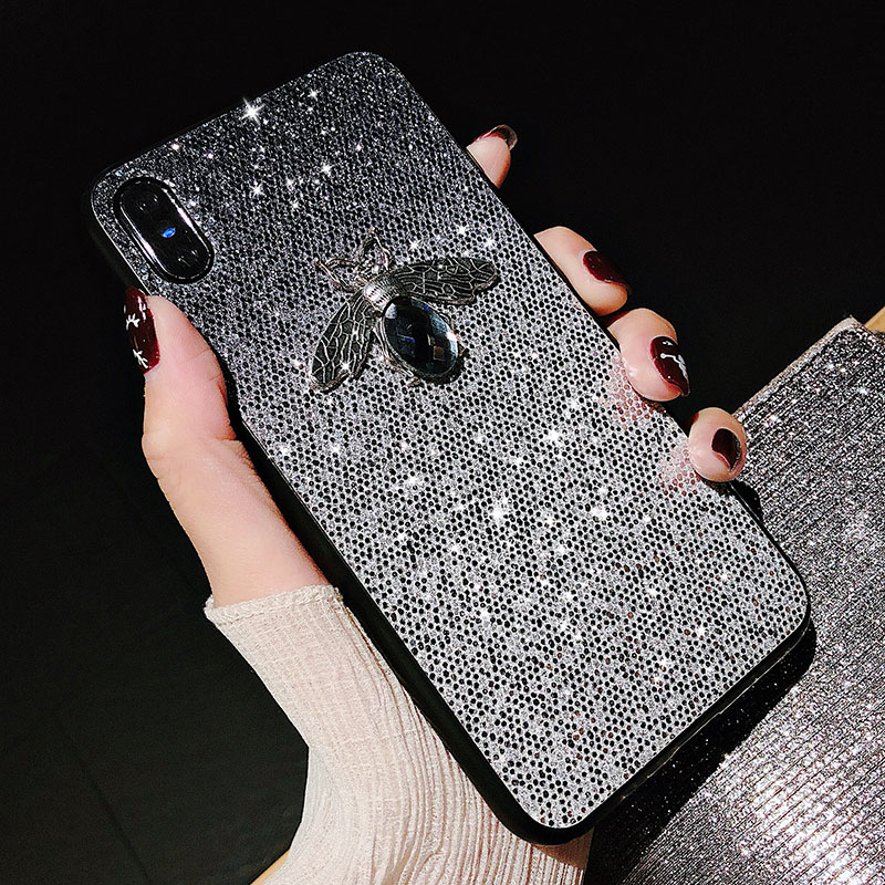 Luxury Shiny Bee <font><b>Glitter</b></font> <font><b>Case</b></font> For <font><b>Huawei</b></font> Mate 20 Pro 10 P9 P30 P20 Pro Lite Y6 <font><b>Y7</b></font> Pro Y9 <font><b>2019</b></font> Honor 9 10 lite Nova 4e 4 3i <font><b>Cases</b></font> image