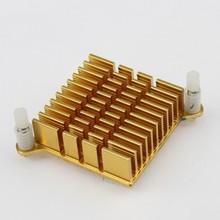 50pcs/lot Golden 40x40x13mm New Arrival Aluminum Heatsink for LED Power Memory Chip