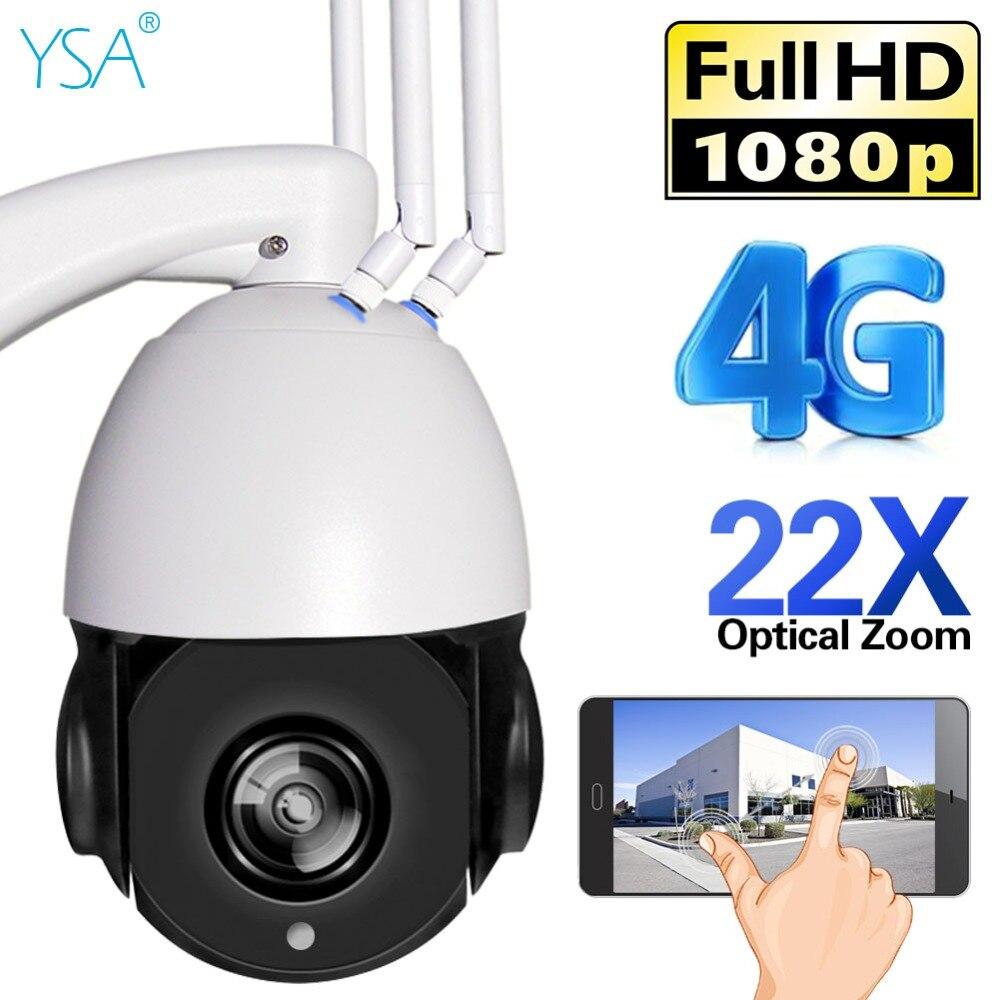 YSA 1080 P HD PTZ Câmera IP 4G 3G 22X SIM Cartão SD Cúpula De Câmera De Segurança Wi-fi Ao Ar Livre zoom óptico Night CCTV De Vigilância Por Vídeo