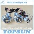 Kit Luz del coche H4 Bixenon Lente Del Proyector de 3 Pulgadas Q5 Koito, 35 W HID Xenon Bombilla Cnlight D2H, de lastre y Tapa Del Objetivo