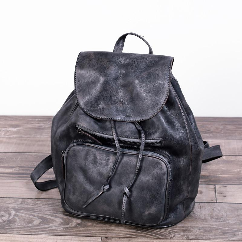 Printing Backpack Kpop 2016 Women Genuine Leather Backpacks Famous Brand Vintage For Teenage School Bags Real Casual Travel Bag